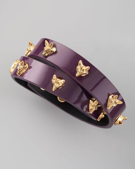 Fox-Studded Wrap Bracelet, Violet