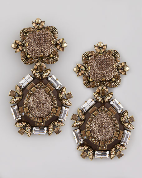 Boucle-Detailed Crystal Clip Earrings