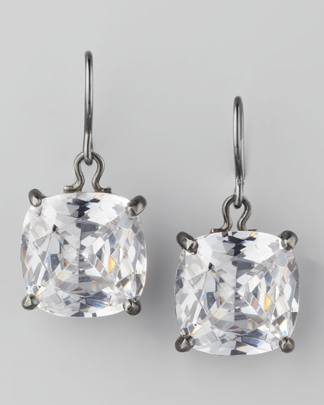 Cushion-Cut Drop Earrings