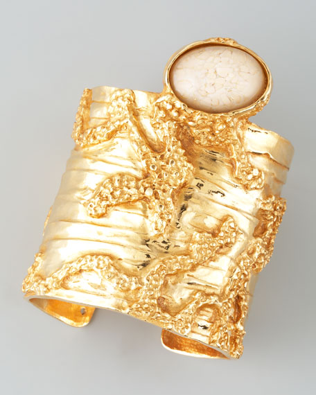 Arty Yellow Golden Cuff, Cream