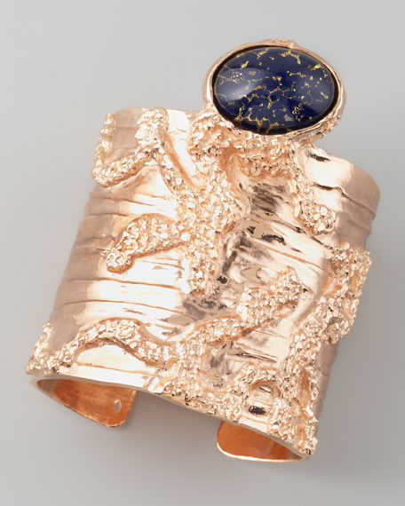 Arty Rose Golden Cuff, Dark Blue