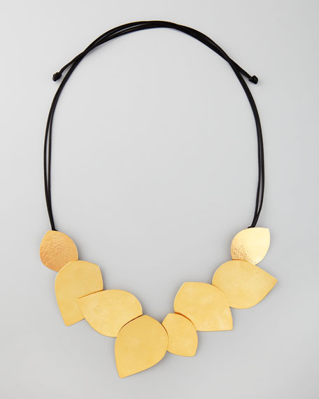 Leaf-Bib Tie Necklace