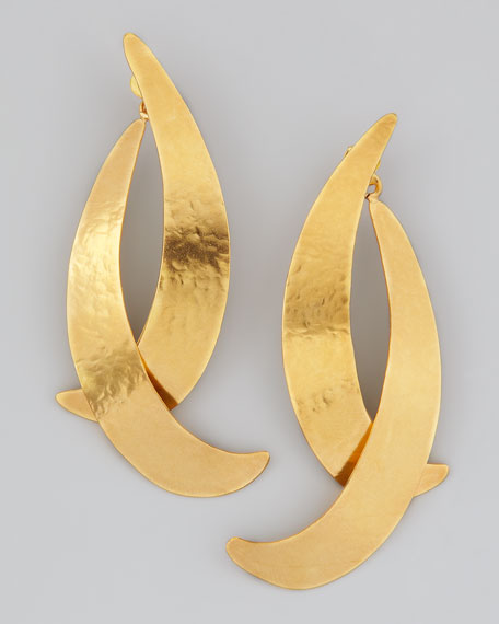 Virgules Crescent Drop Earrings