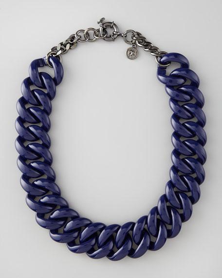 Candy Turnlock Necklace, Dark Purple