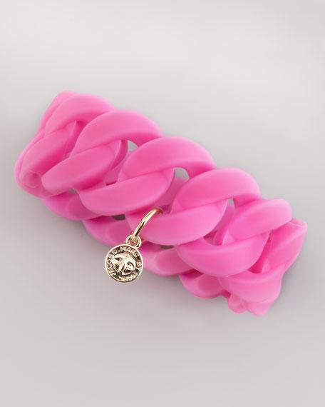 Katie Wide Rubber Turnlock Bracelet, Light Purple