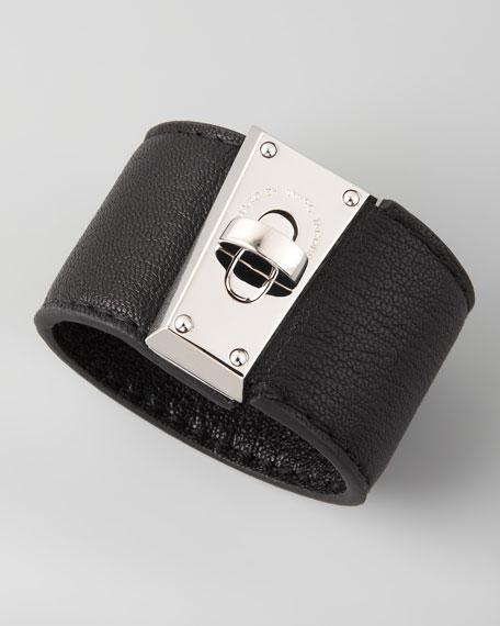 Intergalocktic Leather Bracelet, Black