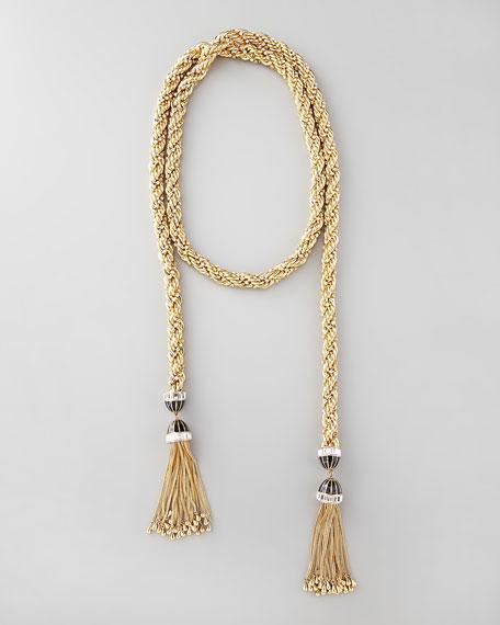 "Long Tassel-End Necklace, 54""L"