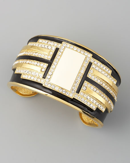 Deco Crystal Cuff