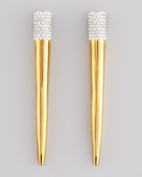 Pave Crystal Spike Earrings
