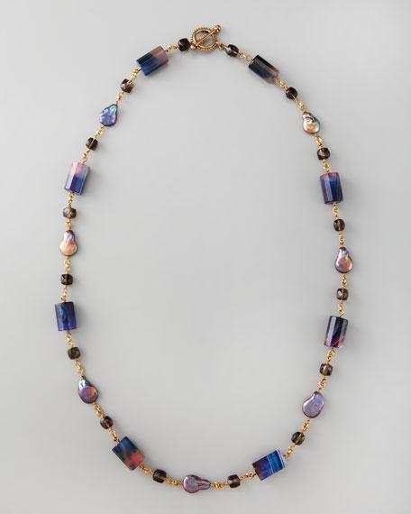 """Single-Strand Multi-Stone Necklace, 36""""L"""