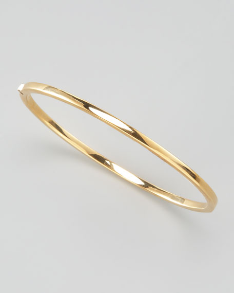 Oval Bangle, Yellow