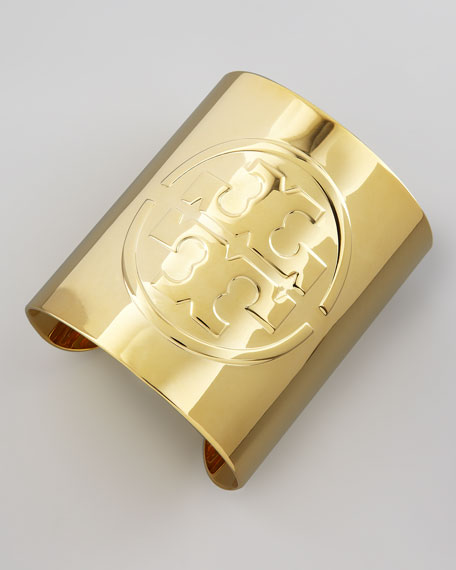 Embossed Golden Logo Cuff