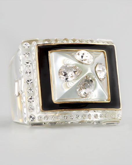 Pave Crystal Enamel Ring