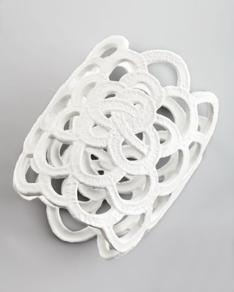 Looped Lace Cluster Cuff, White