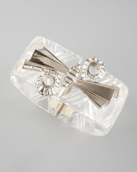 Clear Spiral-Cut Bracelet