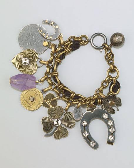 Mixed-Metal Charm Bracelet