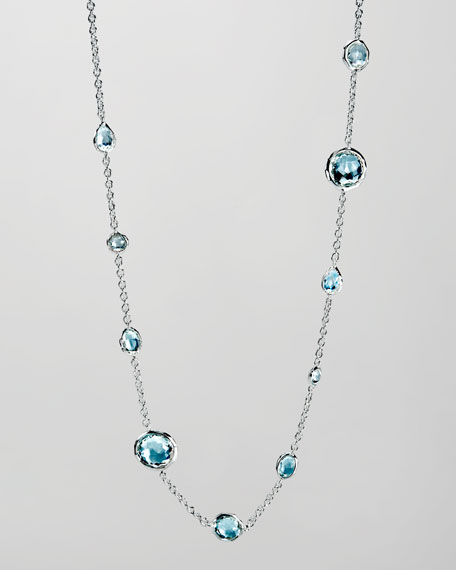 Blue Topaz Rock Candy Necklace