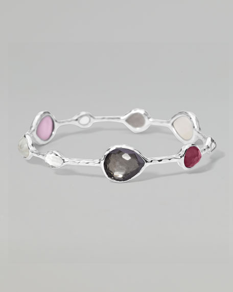 Teardrop-Station Silver Bangle