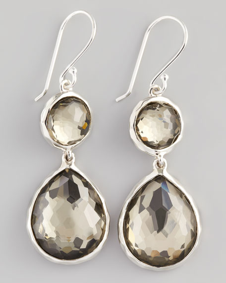 Pyrite Doublet Teardrop Earrings