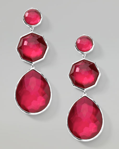 Raspberry Crazy-Eight Earrings