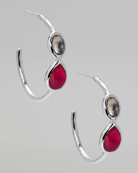 Two-Stone Gelato Hoop Earrings