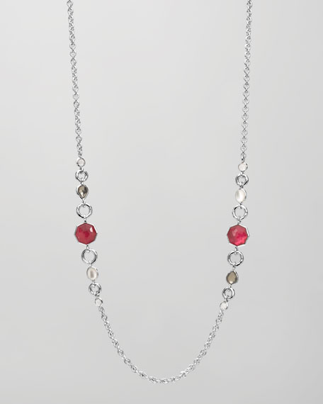 "Symmetric Station Necklace, 36""L"