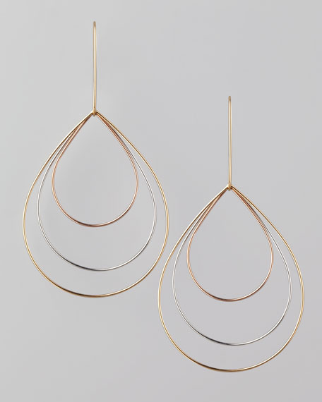 Small 3-Tear Earrings
