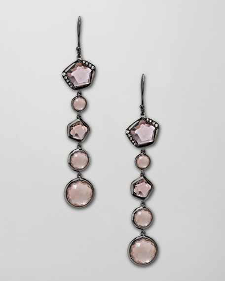 Wicked Multi-Stone Drop Earrings, Quartz