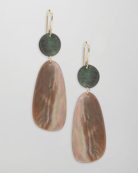 Ondine Double-Drop Shell Earrings