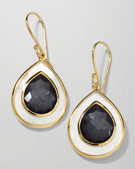 Ondine Small Teardrop Earrings, Hematite