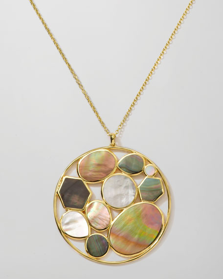 "Ondine Cluster Pendant Necklace, 36""L"