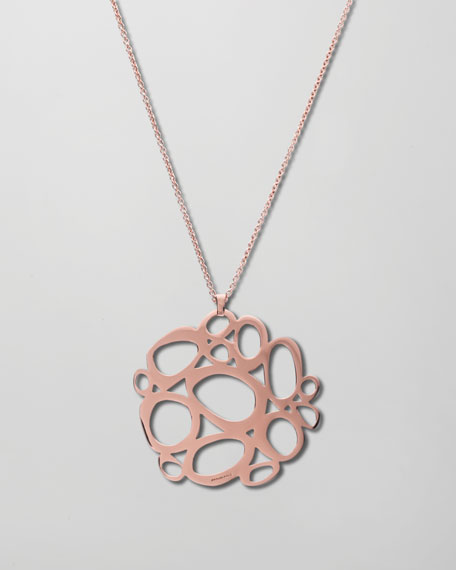 Rose Mosaico Pendant Necklace