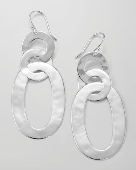 Triple Roma-Link Earrings, Silver