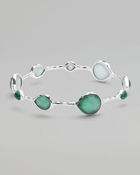 Wonderland Teardrop Bangle, Mint
