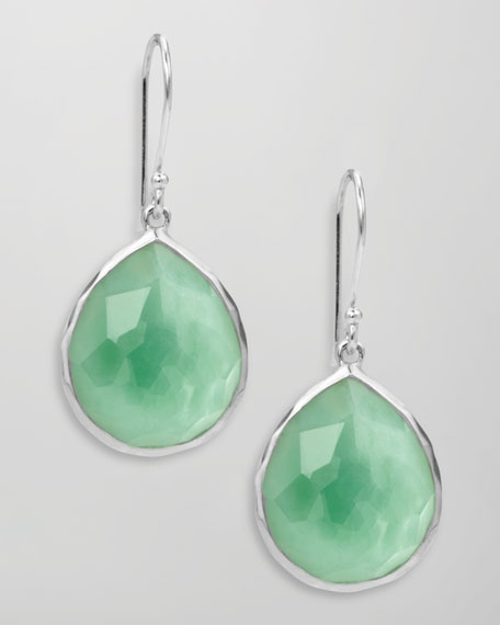Wonderland Mini Teardrop Earrings, Chrysoprase