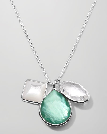 Wonderland 3-Charm Necklace, Mint