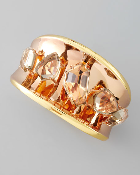 Bel Air Yellow & Rose Gold Bangle