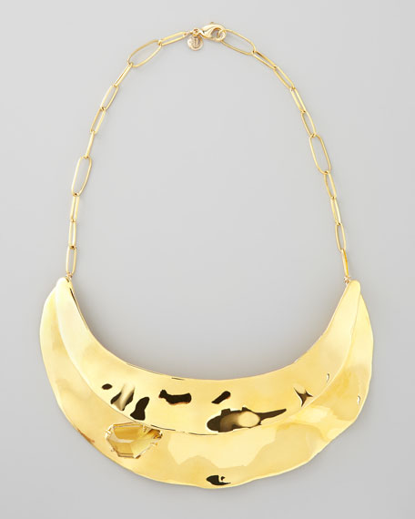 Bel Air Golden Bib Necklace