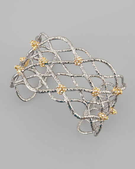 Siyabona Lattice Cuff Bracelet, Gunmetal
