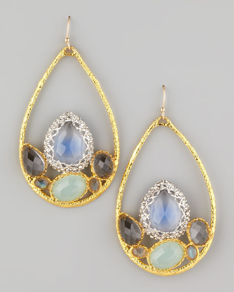 Siyabona Multi-Stone Teardrop Earrings