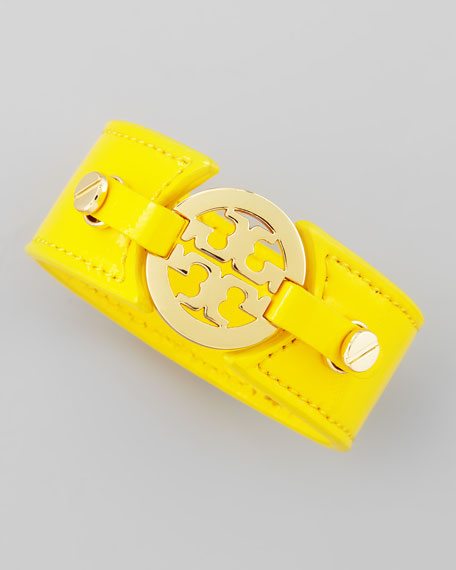 Logo Double-Snap Cuff, Yellow
