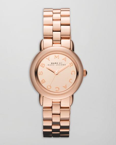 Marci 3H Analog Watch, Rose Golden