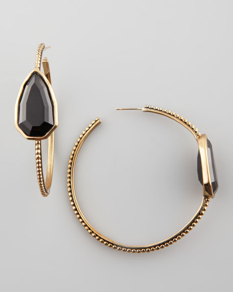 Cathedral Hoop Earrings, Black