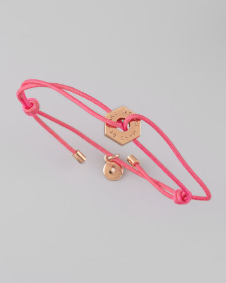 Bolt Friendship Bracelet, Knockout Pink