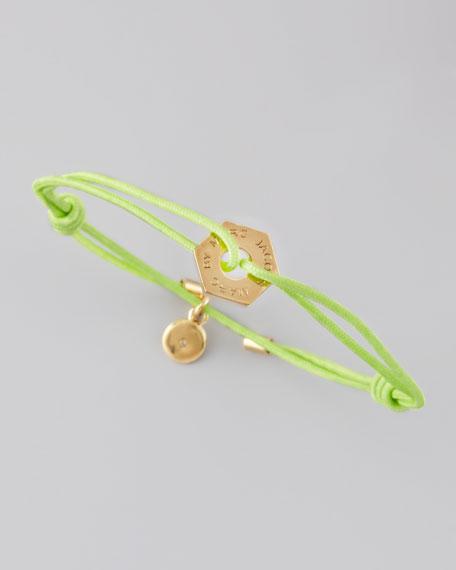 Bolt Friendship Bracelet, Toucan Green