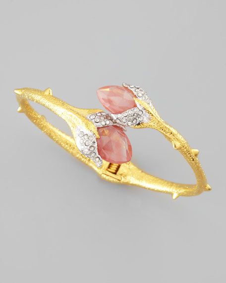 Floral Lace Crystal Bracelet