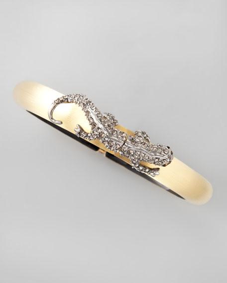 Salamander Lucite Bracelet, Golden