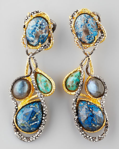 Cordova Vine Clip Earrings
