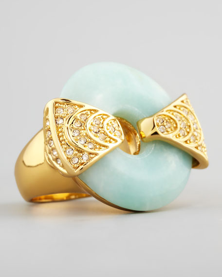 Amazonite & Crystal Statement Ring
