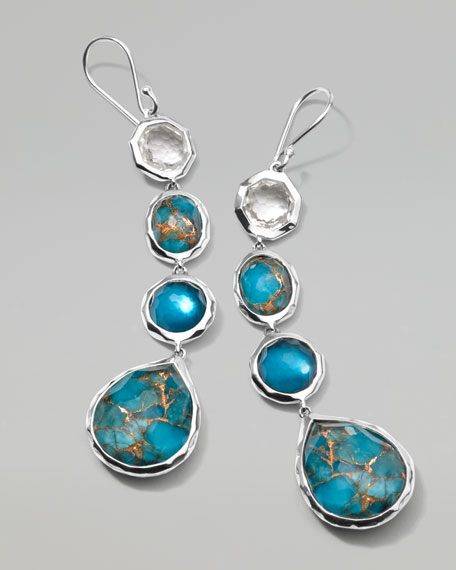 Wonderland Four-Stone Malibu Drop Earrings